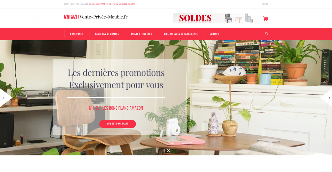 Boutique en ligne mobilier en affiliation